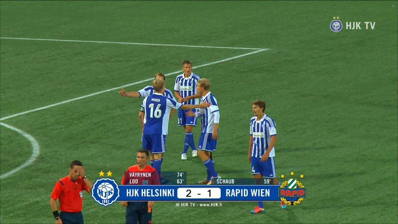 Video: HJK Helsinki – Rapid Wien (2-1), Europa League