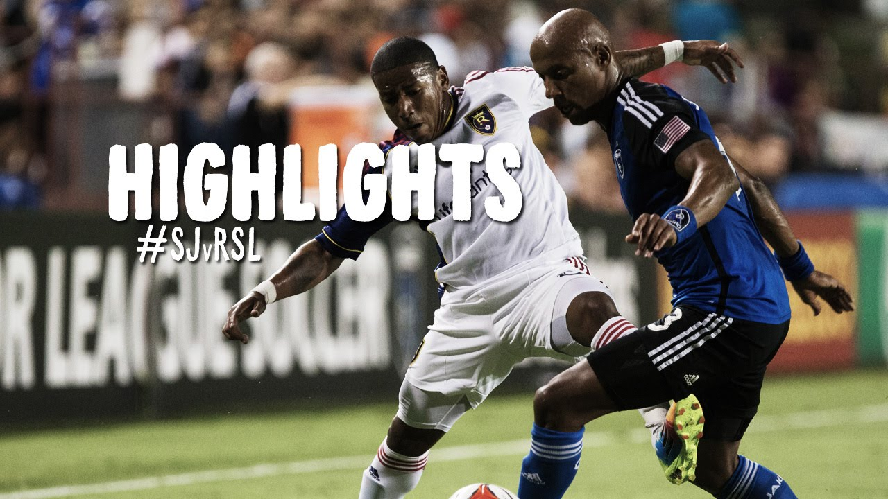 Video: San Jose Earthquakes –  Real Salt Lake (1-1), MLS