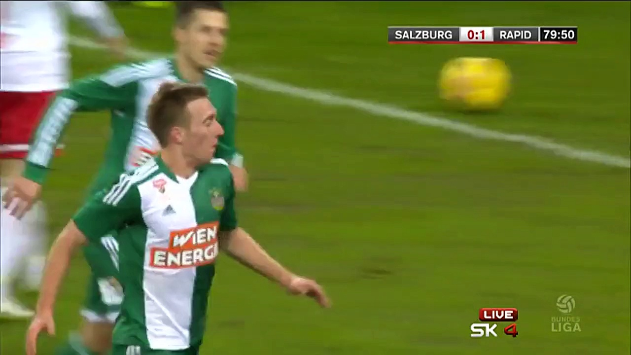 Video: RB Salzburg – Rapid Wien (1-2), Bundesliga